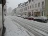 Die verschneite Bahnhofstraße