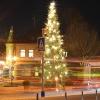 Weihnachtsbaum im Kreisverkehr