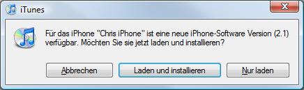 iPhone 2.1 Aktualisierung