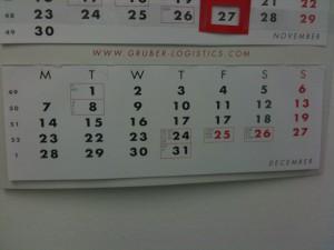 Kalender: Dezember 2009