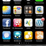Der Apple iPhone Homescreen