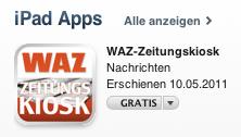 Die WAZ im AppStore
