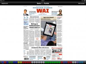 WAZ-App Quer