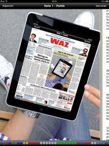 WAZ-App hochkant