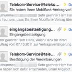 iPhone 4S - Emailbestätigung der Telekom