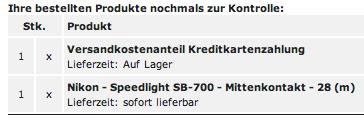 e-bug.de - Bestellbestätigung