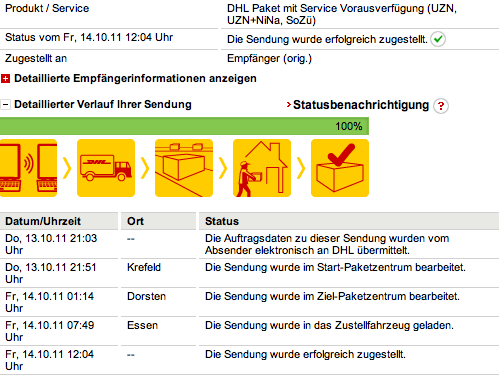 iPhone 4S - DHL Tracking