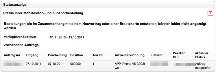 Tacking ID für iPhone 4S
