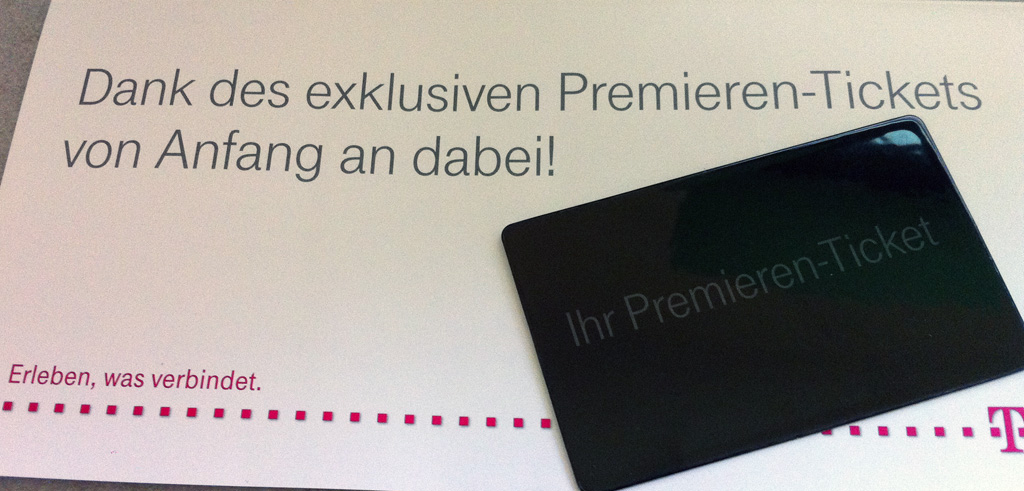 iPhone 4S Premieren-Ticket