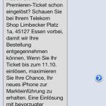 Premieren-Ticket Erinnerung