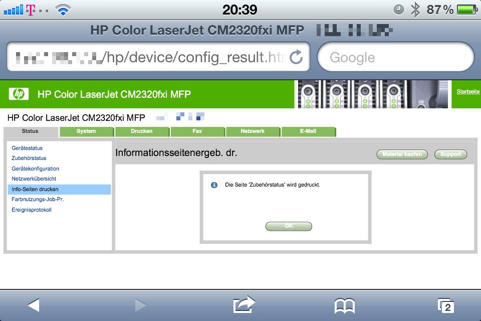 Wi-Fi im Lukas mit offenem Printserver