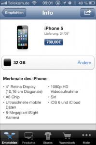 Bestellung iPhone 5