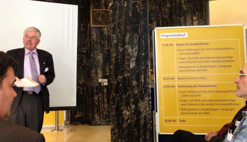 EVAG Vorstandsvorsitzender - Dr. Zierold - beim Kundenforum