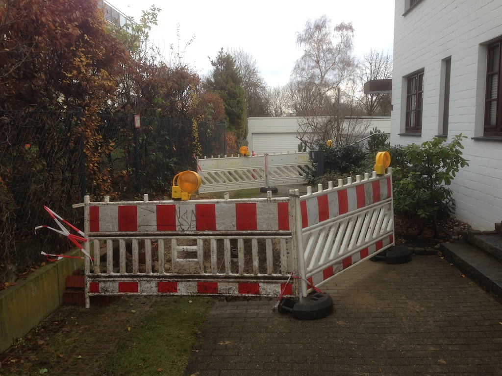 Stadtwerke Essen - gut abgesperrt