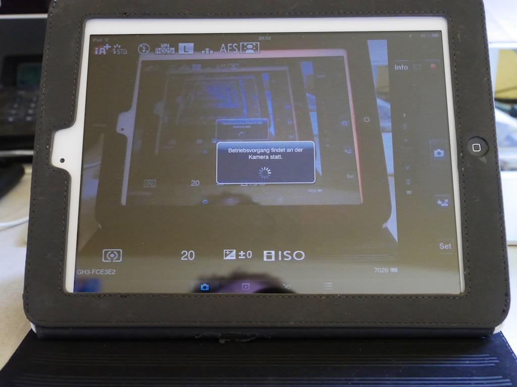 Lumix GH3 per iPad steuern