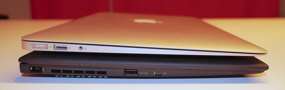 MacBook Air vs. Carbon X1